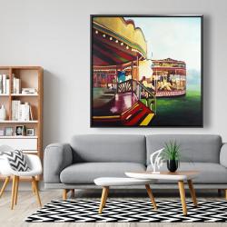 Framed 48 x 48 - Carousel in a carnaval