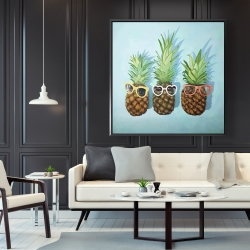 Framed 48 x 48 - Summer pineapples