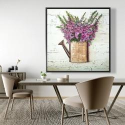 Framed 48 x 48 - Purple foxglove flowers
