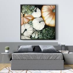 Framed 48 x 48 - Fall pumpkins