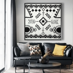 Framed 48 x 48 - Ethnic patterns
