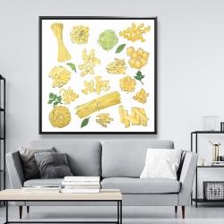 Framed 48 x 48 - Various kind of pasta
