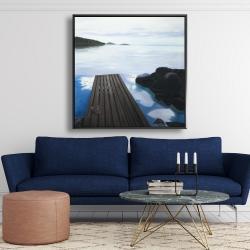 Framed 48 x 48 - Evening on the dock