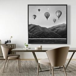 Framed 48 x 48 - Air balloon landscape