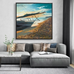 Framed 48 x 48 - Peaceful seaside