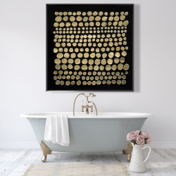 Framed 48 x 48 - Dots on gold