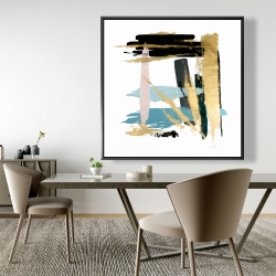 Framed 48 x 48 - Pastel stroke