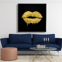 Framed 48 x 48 - Golden lips