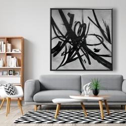 Framed 48 x 48 - Circular strokes
