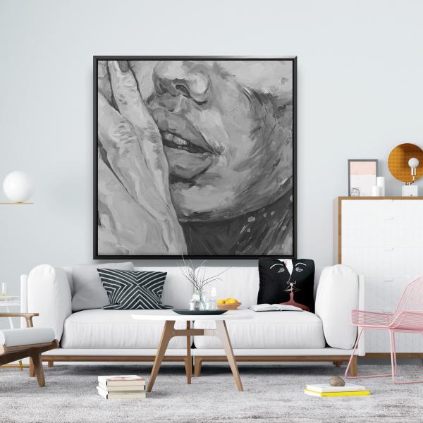 Framed 48 x 48 - Luscious lips