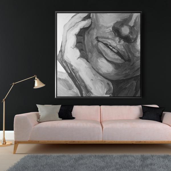Framed 48 x 48 - Irresistible lips