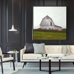 Framed 48 x 48 - Rustic barn
