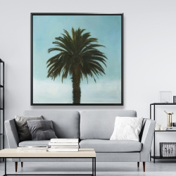 Framed 48 x 48 - Tropical palm