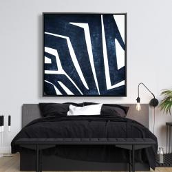 Framed 48 x 48 - Blue labyrinth