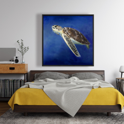 Framed 48 x 48 - Beautiful sea turtle