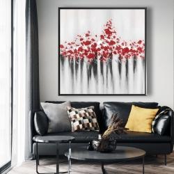 Framed 48 x 48 - Falling red dot