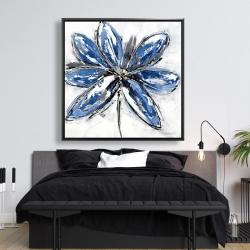 Framed 48 x 48 - Blue petal