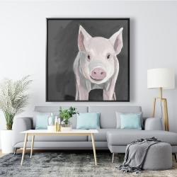 Framed 48 x 48 - Little piglet
