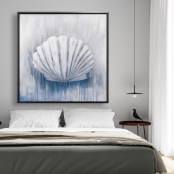 Framed 48 x 48 - Blue feston shell