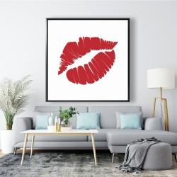 Framed 48 x 48 - Red lipstick mark
