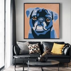 Framed 48 x 48 - Flash the pug