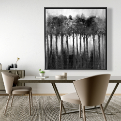 Framed 48 x 48 - Monochrome trees