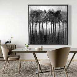 Framed 48 x 48 - Monochrome trees
