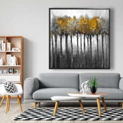 Framed 48 x 48 - Illuminated forest