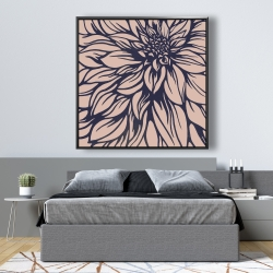 Framed 48 x 48 - Dahlia flower