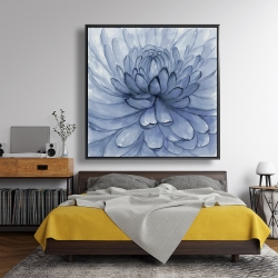 Framed 48 x 48 - Blue petals flower