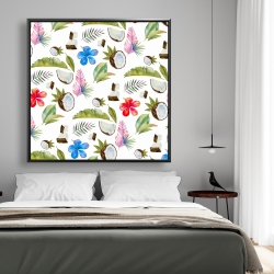 Framed 48 x 48 - Tropical pattern