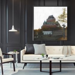 Framed 48 x 48 - Le château de frontenac in autumn
