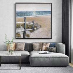 Framed 48 x 48 - Soft seaside