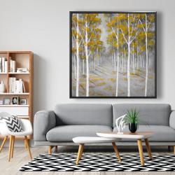 Framed 48 x 48 - Birch forest