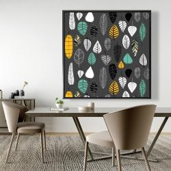 Framed 48 x 48 - Leaves illustration