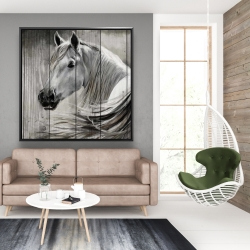Framed 48 x 48 - Rustic horse