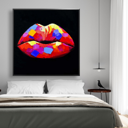 Framed 48 x 48 - Colorful lipstick