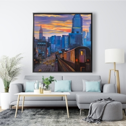 Framed 48 x 48 - Subway in new-york city
