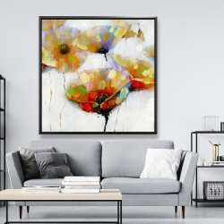 Framed 48 x 48 - Color spotted flowers