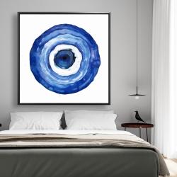 Framed 48 x 48 - Erbulus blue evil eye