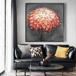 Framed 48 x 48 - Abstract dahlia flower