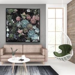 Framed 48 x 48 - Succulent set