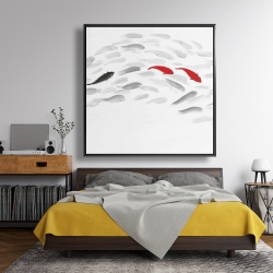 Framed 48 x 48 - Swimming fish wave