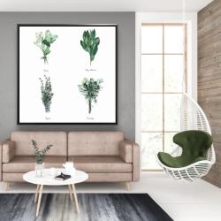 Framed 48 x 48 - Fine herbs