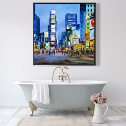 Framed 48 x 48 - Cityscape in times square