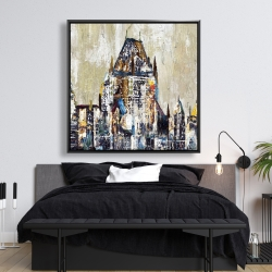 Framed 48 x 48 - Abstract château frontenac