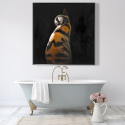 Framed 48 x 48 - Spotted cat