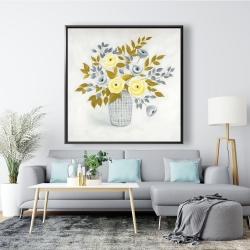 Framed 48 x 48 - Flowers in a vase