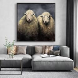 Framed 48 x 48 - Wool sheeps