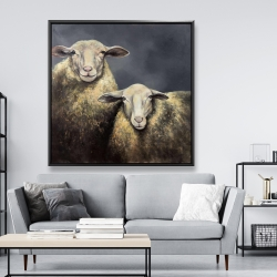 Framed 48 x 48 - Two sheeps